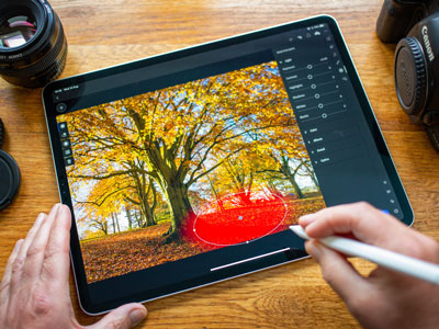 Use Adobe Photoshop to help create a photography portfolio for college.