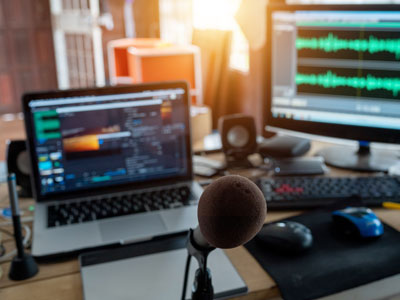 Learn how to start a podcast and the basics of audio editing.