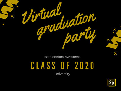 ADOBE GOT YOU WITH FREE GRADUATION CARD TEMPLATES TO SEND TO YOUR FRIENDS! YOU CAN USE THESE TO CREATE A VIRTUAL PARTY FOR YOUR GRAD CLASS OR JUST MAKE ONE AS A NICE GESTURE TO FELLOW PEERS!