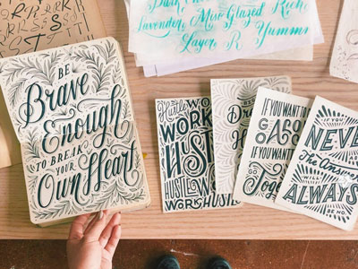 Lettering artist, on a mission to help you grow your creative skills.