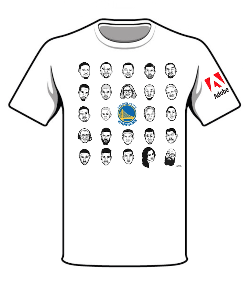 Rob zilla s designs for the nba s golden state warriors for Nba t shirt design